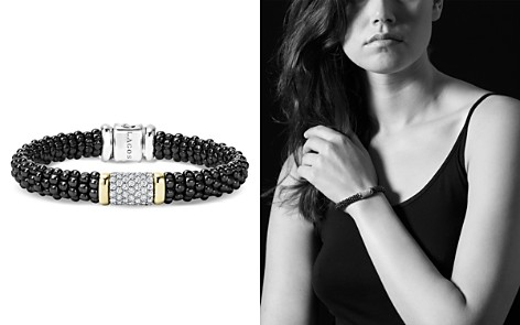 LAGOS Black Caviar Ceramic Bracelet with Pavé Diamonds and 18K Gold - Bloomingdale's_2